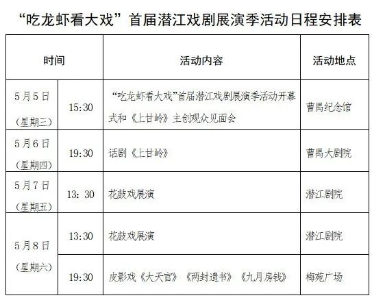 """""""吃龙虾 看大戏""""→首届潜江戏剧展演季开幕"""